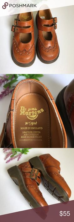 Dr. Martens Camel brown color with two straps. Lightly worn, have a few scuffs as shown. USA size 5 ✅Bundle & Save 🚫Sorry no trading 👍Fast Shipper 💕Happy Poshing Dr. Martens Shoes