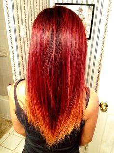 My Red Ombre Hair Redo