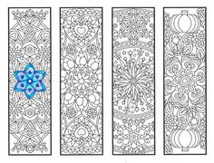 Coloring Bookmarks  Cool Weather Mandalas  coloring by CandyHippie
