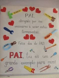 Resultado de imagem para postais dia do pai para creche Diy And Crafts, Crafts For Kids, Daddy Day, Bullet Journal How To Start A, Journal Template, Fathers Day Crafts, Craft Materials, Bullet Journal Inspiration, School Projects