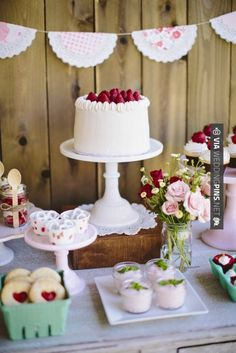 rustic vintage strawberry party