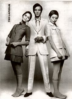 """Ted Lapidus Designs. Credited as a pioneer in the """"Unisex Look"""" & the first to incorporate Denim Jeans into Mens/Womans mainstream fashion design."""