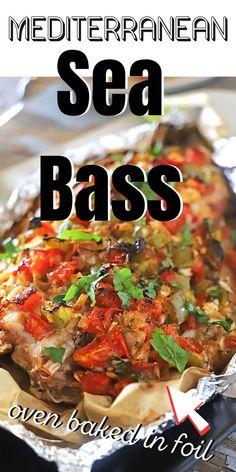 Sea Bass Fillet Recipes, Cooking Recipes, Cooking Ideas, Keto Recipes, Food Ideas, Healthy Recipes, Recipe For Sea Bass Fish, Whole Sea Bass Recipes
