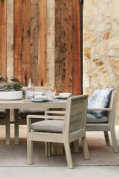 Wide-plank geometric angles and clean lines mark the modern St. Outdoor Rooms, Outdoor Dining, Brick Ranch, Table Seating, World's Most Beautiful, Wide Plank, Napa Valley, Clean Lines, St Kitts