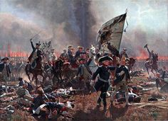 Frederick the Great at the Battle of Zorndorf, leading the infantry of General Dohna's right wing into the attack: painting by Carl Rohling. Frederick The Great, Frederick William, Military Art, Military History, Conquistador, Friedrich Ii, World Conflicts, Historia Universal, Seven Years' War
