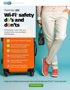 Keep your holiday travels secure with these simple Wi-Fi Safety Do's and Don'ts