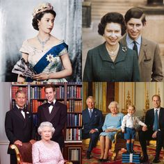 Queen Elizabeth II and her growing line of succession over the years of Prince Charles, Prince William and Prince George. The royal family is truly picture perfect.