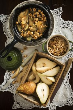 Camembert with Caramelized Pears and Hazelnuts Pie