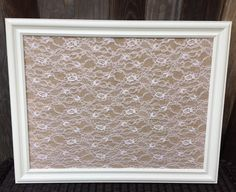 So Shabby So Chic Burlap & Lace Magnetic by BurlapandLaceBoards