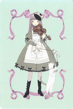 """Girl's Orchestra Kanaria, Violin"" Postcard from Imai Kira (#PC 38) - Lolita Desu"