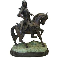 Jinete arabe de bronce.