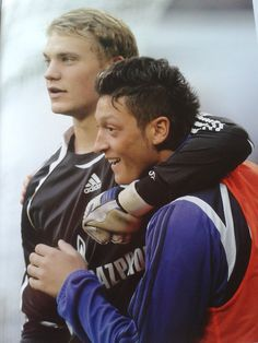 Manu and Mesut - Gosh, they look so young