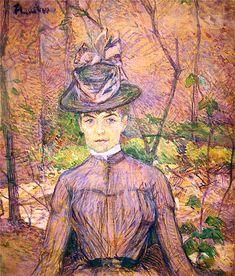 Анри де Тулуз-Лотрек Портрет Сюзанны Валадон 1885