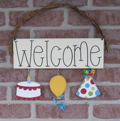 MONTHLY WELCOME Birthday Decorations no sign included by lisabees