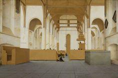 Interieur van de Sint-Odulphuskerk in Assendelft, Pieter Jansz. Saenredam, 1649