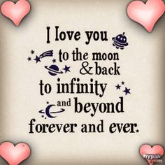 I love you to the moon and back.... love friendship animated romantic love quote friend romance i love you poem