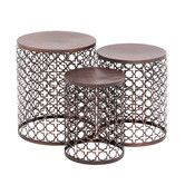 Found it at Wayfair - The Floral 3 Piece End Table Set