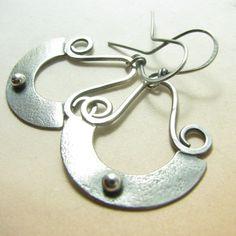 3db634612cb8 Sterling Silver Earrings Silver Dangle Earrings Silversmith Plata  Esterlina