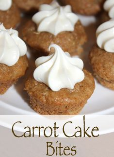 Carrot Cake Bites with cake mix. Quick and easy recipe. Makes 48 bites, perfect for an Easter brunch or playdate.  Toddler approved!