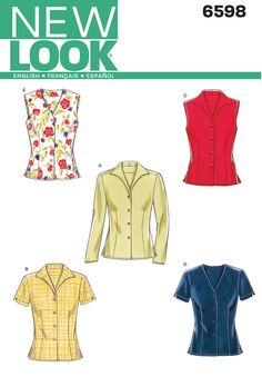 View B - dk green Liberty fabric - 6598 New Look
