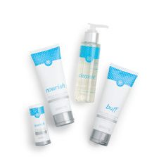 Indulgence Hand Care Set - Now infused with Argan and Hemp Seed Oils, our newly formulated Indulgence Hand Care Set includes exfoliating Buff (4 oz.), moisturizing Nourish (4 oz.), hydrating Quench stick (0.6 oz.), and invigorating Cleanse (4 oz.), everything you need to keep your hands looking and feeling beautiful.