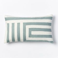 Kate Spade Saturday Signature Zigzag Pillow Cover - Light Pool | West Elm   Cover only -  $39