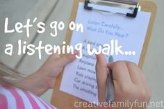 Let's Go On a Listening Walk! ~ Creative Family Fun