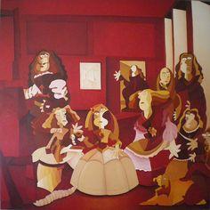 Las Meninas. Óleo sobre lienzo. Tamaño 160x160 cms. Año 2014