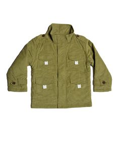 Another great find on #zulily! Green Military Jacket - Toddler & Boys #zulilyfinds