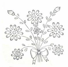 Hand Embroidery Patterns Free, Border Embroidery Designs, Hand Embroidery Videos, Embroidery Flowers Pattern, Vintage Embroidery, Embroidery Art, Cross Stitch Embroidery, Bordado Floral, Brazilian Embroidery