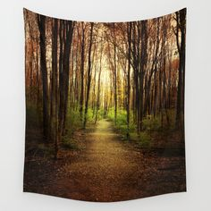 Woodland Wander Wall Tapestry, tree art, woodsy, cabin decor, dark art, camp, forest, wall art, home decor, trees