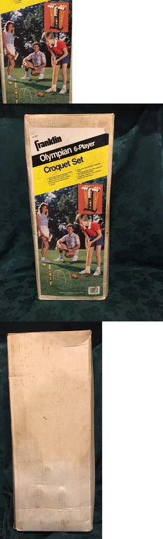Croquet 117210: New Vintage Franklin Olympian 6 Player Solid Croquet Set Great Gift! -> BUY IT NOW ONLY: $150 on eBay!