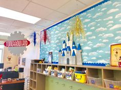 At Home Imagineering goes to school: Magical Disney Inspired Classroom- My classroom was featured on Inside the Magic 😍 Elementary Classroom Themes, Disney Classroom, Infant Classroom, Classroom Decor Themes, School Themes, Classroom Design, Future Classroom, Classroom Ideas, Preschool Classroom Setup