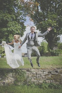 Wedding Blog UK ~ Wedding Ideas ~ Before The Big Day: A Fun-Loving Wedding featuring a Tractor & Space Hoppers