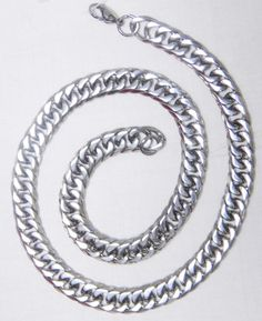 Trendy Gents Antique Silver Stainless Steel chain