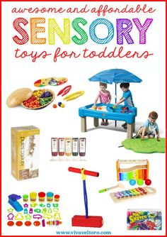 Awesome (and affordable) Sensory Toys for Toddlers - make learning fun for your little ones.