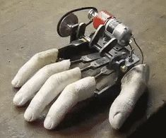 Robot hand finger tapping