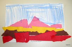 Tippytoe Crafts: Torn-Paper Grand Canyons
