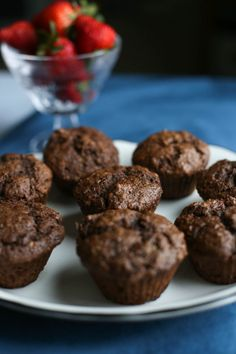 These Chocolate Banana Muffins are not only moist and delicious, but they are packed with sneaky nutrition. They are a kid-favorite and freeze beautifully to serve as an easy make-ahead healthy breakfast or even an after school snack. So yummy! #chocolatebananamuffin #healthymuffin Chef Recipes, Cookbook Recipes, Healthy Recipes, Healthy Foods, Chocolate Banana Muffins, Cocoa Cinnamon, Good Food, Yummy Food, Most Delicious Recipe