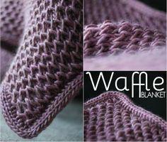 Free Waffle Blanket Pattern by Debajo un botón... ༺✿ƬⱤღ http://www.pinterest.com/teretegui/✿༻