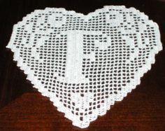 pattern crochet doily monogram heart letter M por CreazioniFiopi