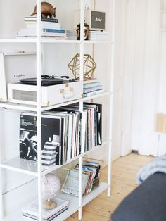 These IKEA shelves have almost become part of who I am, it seems like they complete our room and sum both Jordan and I up so perfectly! I gave them a little rearrange lately and I'm feeling pretty proud of the outcome… Although I know Jo doesn't mind that I have taken over the bedroom with my entire life, I always try to make the other rooms very neutral – so the kitchen is all white and mint, and the living room is very brass and grey. The living room especially is his place,...