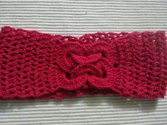 Bandana para el cabello en crochet