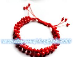 Natural red coral bracelet, promote healthy blood stone beauty