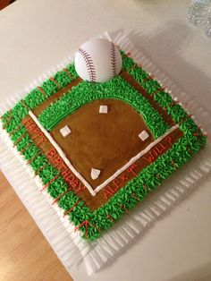 Baseball theme birthday cake!!!