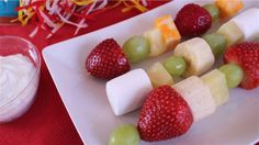 Good list of healthy treats for preschool and elementary school snack time and birthday celebrations.  Many teachers do not allow cookies, candy, cake and other sugary snacks - kids are wild enough without them anyway.   By Aviva Goldfarb of Kitchen Explorers and Six O'Clock Scramble.