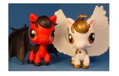 Fan Art of Devil & Angel for fans of Littlest Pet Shop. A gorgeous set of custom ponies, one done as an angel and the other as a devil. So cute! You can see more of this artist's work at: http://www.rockyou.com/show_my_gallery2.php?instanceid=121454183
