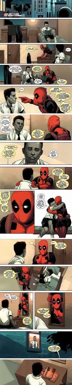 "At first, I was like, ""Woah, this is getting too cheesy for Deadpool. Stop that."" But it ended on a DeadPool-appropriate level and all is right again."