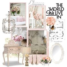 """Shabby Chic Mood Board"" by youaresofashion on Polyvore"