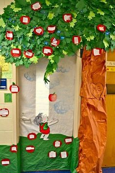 the giving tree- kids can share nice things that they do for each other and add an apple to the class tree.